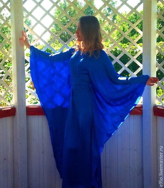 Пляжные туники ручной работы. Ярмарка Мастеров - ручная работа. Купить Платье пончо ( цвет на заказ любой). Handmade.