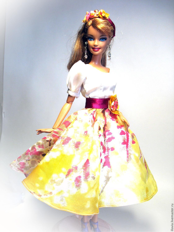 Платья из фатина для кукол