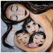 """Картины и панно ручной работы. Ярмарка Мастеров - ручная работа Картина из шерсти """"Мамино счастье"""". Handmade."""