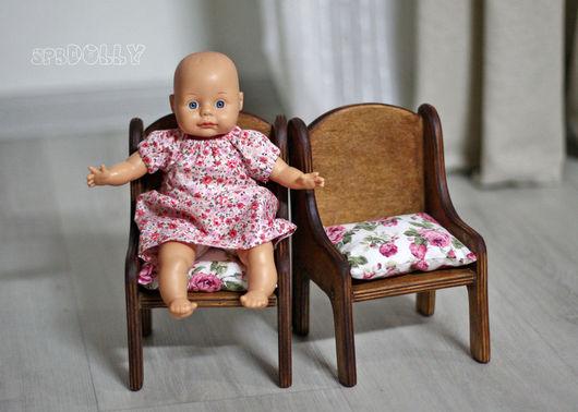 Кукольный дом ручной работы. Ярмарка Мастеров - ручная работа. Купить Ретро (миди) - пара стульев. Выполняются на заказ.. Handmade.