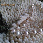Украшения handmade. Livemaster - original item Freshwater Pearls necklace  in Wire Wrap technique. Handmade.