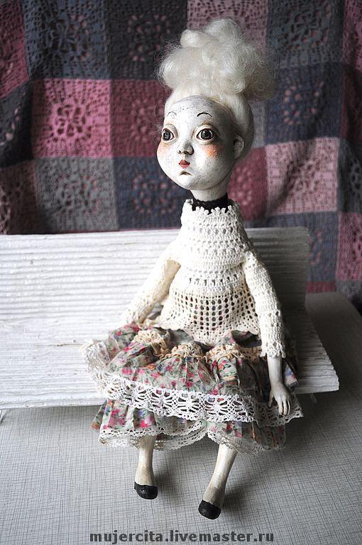 Коллекционные куклы ручной работы. Ярмарка Мастеров - ручная работа. Купить Кукла Клариска(продано). Handmade. Кукла, подарок, текстиль