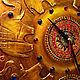 """Часы для дома ручной работы. Заказать Часы """"Старая Индия"""" № 2 (хоботы вверх)). Полех Наталья. Ярмарка Мастеров."""