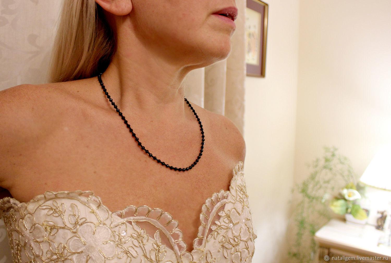Natural black spinel beads Black diamond, Beads2, Tuchkovo,  Фото №1