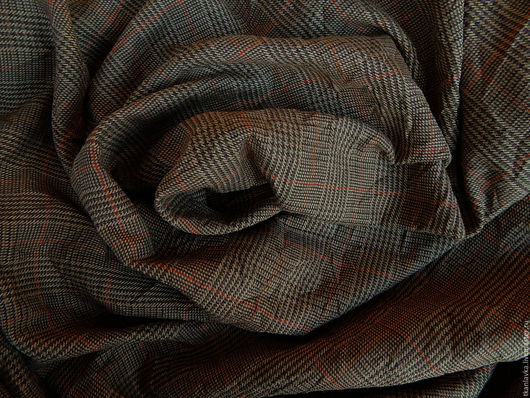 Шитье ручной работы. Ярмарка Мастеров - ручная работа. Купить ткань плательно-костюмная жатая(крэш). Handmade. Коричневый, жатая ткань