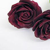"""Украшения ручной работы. Ярмарка Мастеров - ручная работа Серьги-гвоздики, пуссеты, пусеты с цветком розы """"Роза"""". Handmade."""