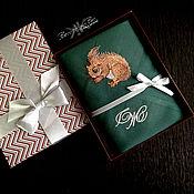 Аксессуары handmade. Livemaster - original item Mens handkerchief with embroidery pattern Monogram Initials. Handmade.