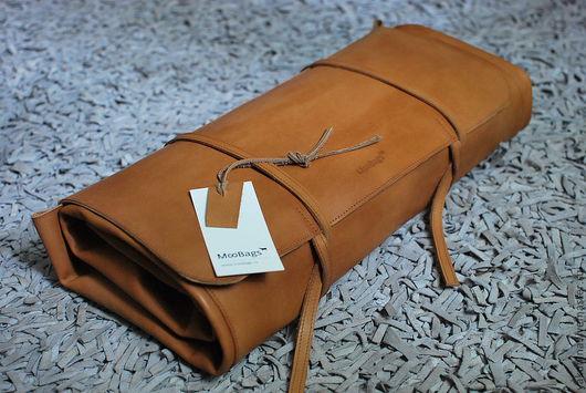 Мужские сумки ручной работы. Ярмарка Мастеров - ручная работа. Купить Барменская скрутка. Handmade. Чехол, кожа