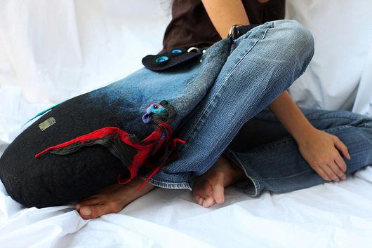 Handbags handmade. Livemaster - handmade. Buy ...In the blue sea, white foam.Handmade, big bag