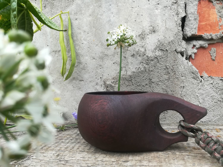 Кружки и чашки ручной работы. Ярмарка Мастеров - ручная работа. Купить Кукса из сапели (красное дерево), 280 мл, финская кружка из дерева. Handmade.