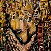 """Картины и панно ручной работы. Ярмарка Мастеров - ручная работа Картина маслом """"Тяжёлые Мысли"""". Handmade."""