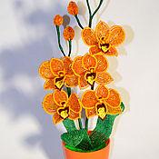 Цветы и флористика handmade. Livemaster - original item Orchid Orange. Handmade.