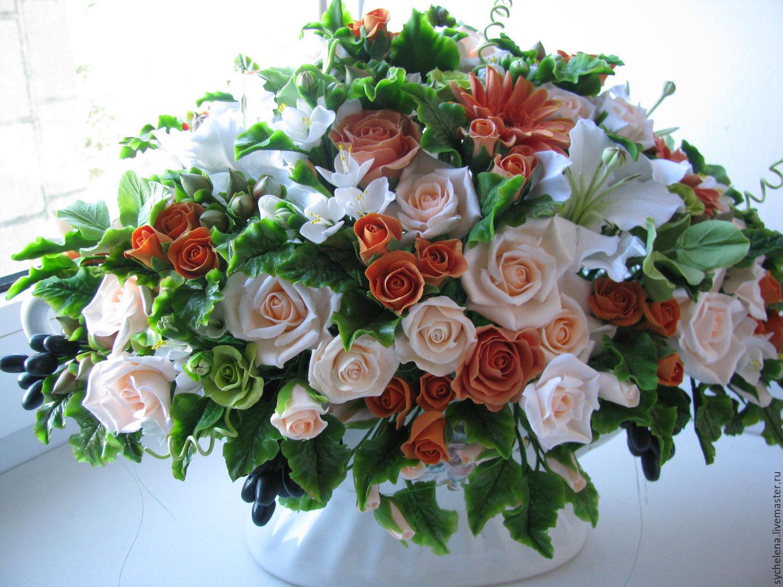 Цветы из глины купить киев доставка цветов чехов губернский