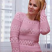 Одежда ручной работы. Ярмарка Мастеров - ручная работа Пуловер нежно-розовый. Handmade.