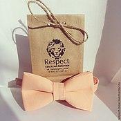 Аксессуары handmade. Livemaster - original item Tie soft peach / butterfly-tie, peach wedding. Handmade.