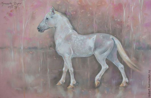 Животные ручной работы. Ярмарка Мастеров - ручная работа. Купить Pink. Handmade. Розовый, конь, пейзаж, романтический стиль, белый