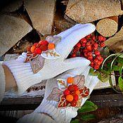 """Аксессуары ручной работы. Ярмарка Мастеров - ручная работа Перчатки """"Костер рябины красной"""". Handmade."""