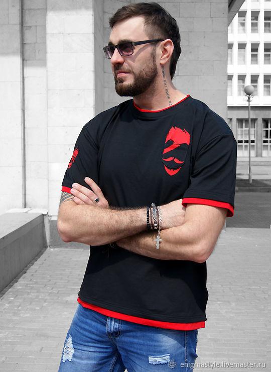 Men's Beard t-shirt, cool black underground t-shirt, T-shirts and undershirts for men, Novosibirsk,  Фото №1