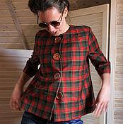 Одежда handmade. Livemaster - original item Jacket in a cage. Handmade.