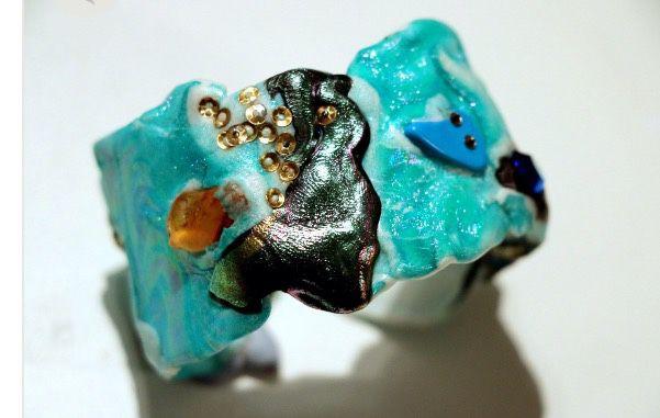 bracelet from the collection of avant-garde / turquoise laguna, Bead bracelet, Amsterdam,  Фото №1