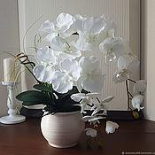 """Композиции ручной работы. Ярмарка Мастеров - ручная работа Орхидея """"Белиссима-2"""" имитация живых цветов. Handmade."""