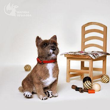Куклы и игрушки ручной работы. Ярмарка Мастеров - ручная работа Собака норвич терьер из шерсти Бенти. Handmade.