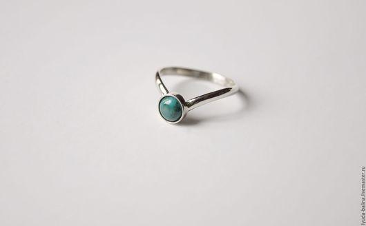 """Кольца ручной работы. Ярмарка Мастеров - ручная работа. Купить """"Лесная тень"""" кольцо с хризоколлой. Handmade. Тёмно-зелёный, для женщины"""