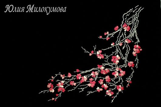 Платья ручной работы. Ярмарка Мастеров - ручная работа. Купить Восточное платье-сакура. Handmade. Маленькое черное платье