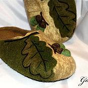 """Обувь ручной работы. Ярмарка Мастеров - ручная работа Тапочки """"Дубок"""". Handmade."""