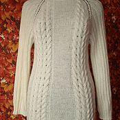 Одежда ручной работы. Ярмарка Мастеров - ручная работа свитер белый шерстяной. Handmade.