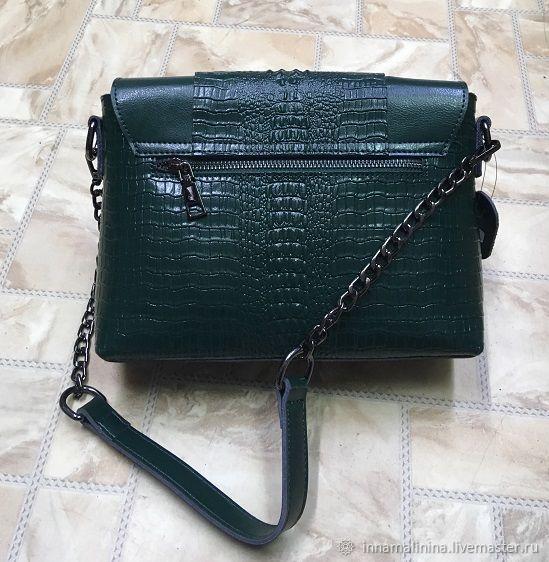 64337aa2efa8 Женская кожаная сумка кросс боди зелёная натуральная кожа – купить в ...