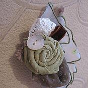 Украшения ручной работы. Ярмарка Мастеров - ручная работа брошка текстильная. Handmade.