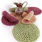 Для дома и интерьера handmade. Livemaster - original item Knitted napkins-stands for hot!