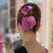 """Украшения ручной работы. Ярмарка Мастеров - ручная работа Стилизованная орхидея """"Маргарита"""". Handmade."""