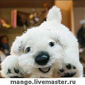 """Куклы и игрушки ручной работы. Ярмарка Мастеров - ручная работа Щенок вест хайленд """"фиолетовая лента"""". Handmade."""