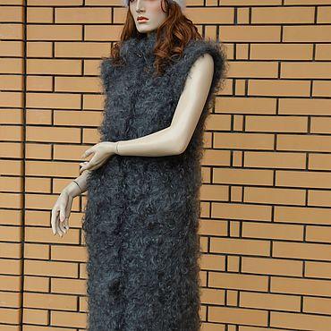 Одежда ручной работы. Ярмарка Мастеров - ручная работа Кардиган Пуховый удлиненный вязаный. Handmade.