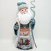 Сувениры и подарки handmade. Livemaster - original item Santa Claus malachite coat(wooden). Handmade.