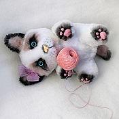 Куклы и игрушки ручной работы. Ярмарка Мастеров - ручная работа Игрушка котенок сноу шу. Handmade.
