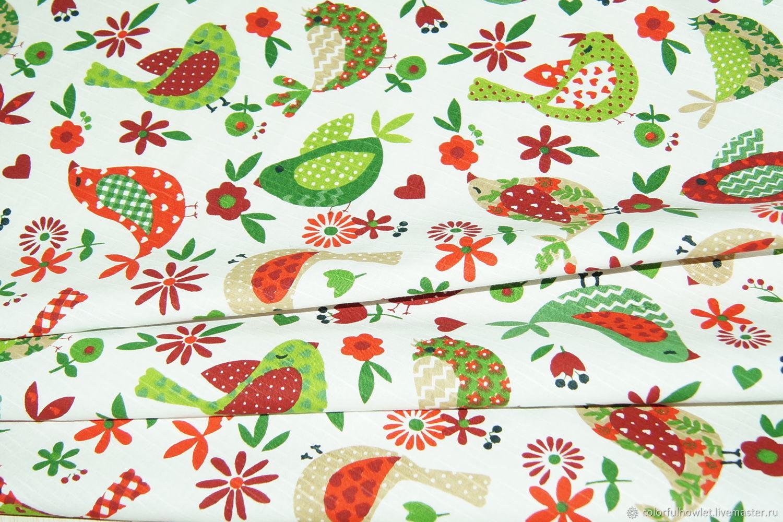 Чесуча ткань 100% хлопок для шитья  новогодняя, Ткани, Иваново,  Фото №1