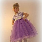 Работы для детей, ручной работы. Ярмарка Мастеров - ручная работа Платье для девочки 4-7 лет Рост 110-120. Handmade.