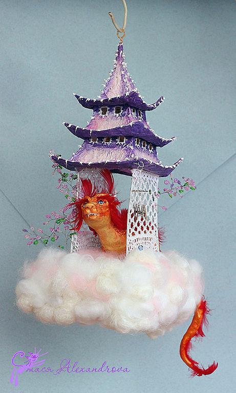 Кукольный дом ручной работы. Ярмарка Мастеров - ручная работа. Купить Пагода Утренней Зари. Handmade. Дракон, домик с драконом