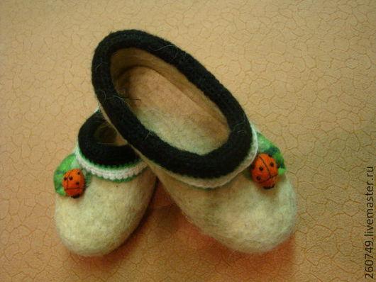 Обувь ручной работы. Ярмарка Мастеров - ручная работа. Купить Детские тапочки - самовалки. Handmade. Обувь ручной работы, нитки