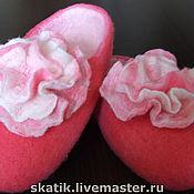 """Обувь ручной работы. Ярмарка Мастеров - ручная работа тапочки """"Нежный цветок"""". Handmade."""
