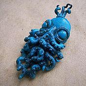 Украшения ручной работы. Ярмарка Мастеров - ручная работа Осьминоги-принцы. Броши из полимерной глины. Handmade.