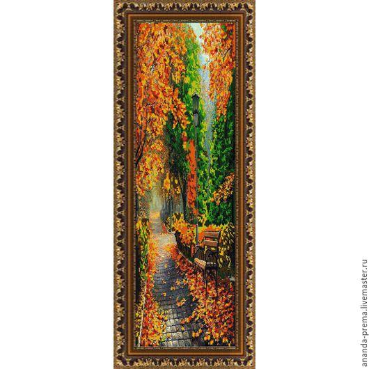 """Вышивка ручной работы. Ярмарка Мастеров - ручная работа. Купить """"Осень"""" Арт 9675  Набор для вышивания бисером. Handmade. Комбинированный"""