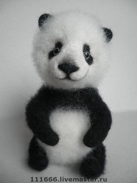 """Игрушки животные, ручной работы. Ярмарка Мастеров - ручная работа. Купить Игрушка из шерсти """"Малыш панда"""". Handmade. Сухое валяние"""