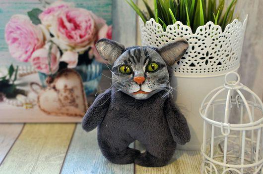 Куклы и игрушки ручной работы. Ярмарка Мастеров - ручная работа. Купить Серый кот. Handmade. Серый цвет, кот