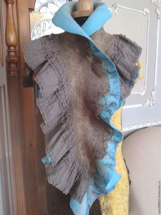 Шарфы и шарфики ручной работы. Ярмарка Мастеров - ручная работа. Купить шарф. Handmade. Бирюзовый, подарок на новый год, шёлк натуральный