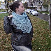 Аксессуары ручной работы. Ярмарка Мастеров - ручная работа Бирюзовая мини шаль. Handmade.