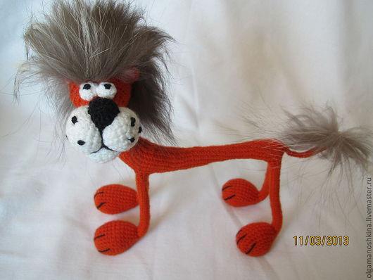 Игрушки животные, ручной работы. Ярмарка Мастеров - ручная работа. Купить Лев. Handmade. Вязание крючком, подарок на новый год, синтипух